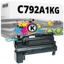 Alternativ Lexmark Toner C792A1KG Schwarz