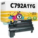 Alternativ Lexmark Toner C792A1YG Gelb