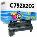 Alternativ Lexmark Toner C792 C792X2CG Cyan