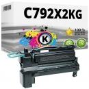 Alternativ Lexmark Toner C792 C792X2KG Schwarz