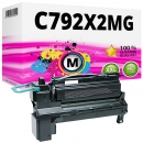 Alternativ Lexmark Toner C792 C792X2MG Magenta
