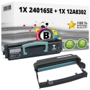Set Alternativ Lexmark Toner 24016SE + Trommel 12A8302