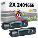 Set 2x Alternativ Lexmark Toner 24016SE Schwarz