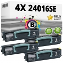 Set 4x Alternativ Lexmark Toner 24016SE Schwarz