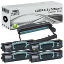 4x Alternativ Lexmark Toner E250 E250A11E + Trommel E250X22G
