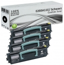 Set 4x Alternativ Lexmark Toner E260A11E Schwarz