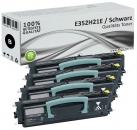 Set 4x Alternativ Lexmark Toner E350 E352H21E