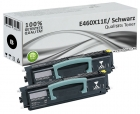 Set 2x Alternativ Lexmark Toner E460X11E XL Schwarz