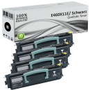 Set 4x Alternativ Lexmark Toner E460X11E XL Schwarz