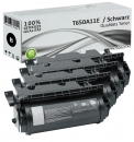 Set 4x Alternativ Lexmark Toner T650A11E T650 Schwarz