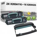 Set Alternativ Lexmark Toner 2x X203A11G + Trommel X203H22G