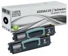 Set 2x Alternativ Lexmark Toner X203A11G Schwarz