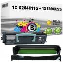 Set Alternativ Lexmark Toner X264H11G + Trommel E260X22G