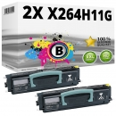 Set 2x Alternativ Lexmark Toner X264H11G Schwarz