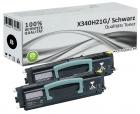Set 2x Alternativ Lexmark Toner X340H21G Schwarz