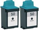 Alternativ Lexmark Patronen 2x 50 17G0050 Schwarz