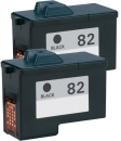 Alternativ Lexmark Patronen Set 2x 82 18L0032 Schwarz
