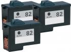 Alternativ Lexmark Patronen Set 3x 82 18L0032 Schwarz Refill
