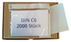 Selbstklebende Lieferscheintaschen 18 x 14 cm (DIN C6) - 2000 Stück