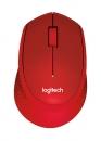 Logitech M330 Silent Plus schnurlos Maus Rot