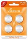 MediaRange Lithium Batterie Knopfzelle CR2032 - 4 Stück
