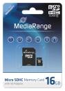 MediaRange Micro SDHC Speicherkarte 16 GB Class 10 mit Adapter