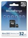 MediaRange Micro SDHC Speicherkarte 32 GB Class 10 mit Adapter