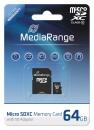 MediaRange Micro SDXC Speicherkarte 64 GB Class 10 mit Adapter