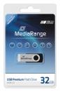 MediaRange USB Stick 2.0 32 GB Schwarz/Silber
