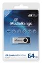 MediaRange USB Stick 2.0 64 GB Schwarz/Silber