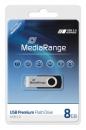 MediaRange USB Stick 2.0 8 GB Schwarz/Silber