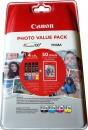 4x Original Canon Patronen CLI-551 XL+ Foto Papier PP-201 50 Blatt  6443B006