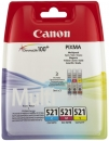 Original Canon Patronen Set CLI-521 C M Y