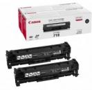Original Canon Toner 718 2662B005 Schwarz Doppelpack
