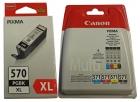 5x Original Canon Patronen im Set PGI-570XL+CLI-571