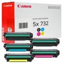 Set 5x Original Canon Toner 732H+732