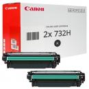 Set 2x Original Canon Toner 732H 6264B002 Schwarz