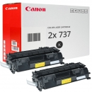 2x Original Canon Toner 737 9435B002 Schwarz