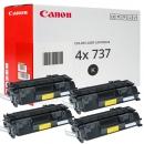 4x Original Canon Toner 737 9435B002 Schwarz