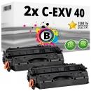 Alternativ Canon Toner C-EXV 40 / 3480B007 Schwarz Doppelpack