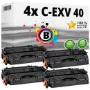 Set 4x Alternativ Canon Toner C-EXV 40 / 3480B006 Schwarz