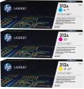 Set Original Toner HP 312A CF381A+CF382A+CF383A CF400AM