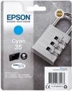 Original Epson Patronen 35 T3582 (Schloss) Cyan