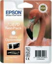 Original Epson Patronen T0870 (Flamingo) Gloss Optimizer