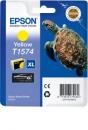 Original Epson T1574 (Schildkröte) Druckerpatronen Yellow/gelb XL