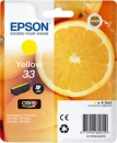 Original Epson Patronen 33  (Orange) T3344 Gelb / Yellow