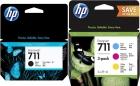 Original HP Set 4x Druckerpatronen 711 Mehrfarbig