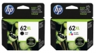 Original HP Patronen 62 XL Set Schwarz + Color