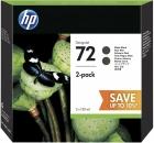 Original HP Patronen 72 Schwarz Doppelpack