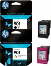 Original HP Patronen 901 Black + 901 Color Multipack